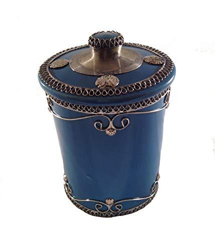 Marokkanische Zuckerdose Keramik Marrakesch-L-Türkis