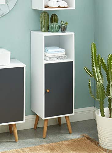 BAITA Aufbewahrungssäule für Badezimmer, weiß, grau, 0