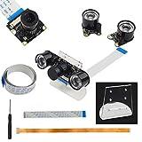 7in1 frambuesa Pi kit de enfoque Verstelbare infrarrojos Nachtzicht negro módulo de cámara para toda la versión de Raspberry Pi 5 megapíxeles cámara sistema de seguridad Poe NVR +/cero 1.3/cero W