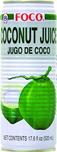 Foco, Mezcla para cóctel, agua de coco - 24 de 520 ml. (Total 12480 ml.)