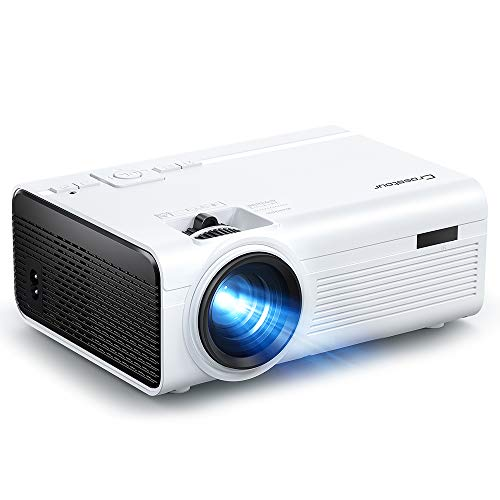"Projector, Crosstour Mini Portable Movie Projector Support 1080P Home Theater, Video Projector with 55,000 Hrs LED Lamp Life 180 ""Display, Compatible with HDMI, USB, TF, TV Stick, PS4, iPhone"