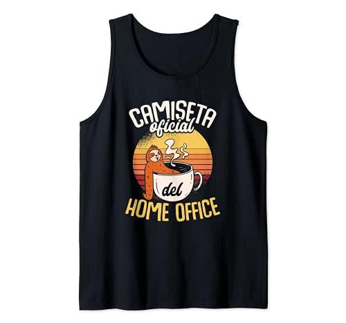 Ser Perezoso Relájate Pereza Home Office Compañeros Trabajo Camiseta sin Mangas