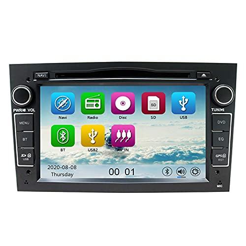 7'Autoradio Autoradio DVD Lettore CD SAT Navi GPS per VAUXHALL Opel Corsa Zafira Antara Astra Vectra Meriva Supporto Navigazione GPS Audio Video Bluetooth USB SD SWC FM AM RDS (Nero)