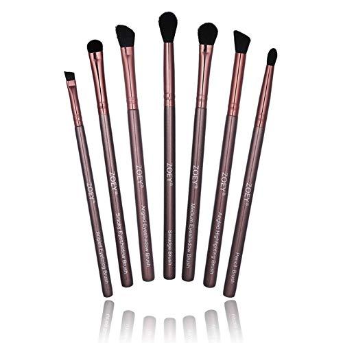 7 Pcs-Maquillage des yeux Pinceau Set essentiels Brosses yeux Maquillage des yeux Ombre Brush Set & Eyelining & Crayon & Smudge brosserie durent plus longtemps, Appliquer une meilleure maquillage
