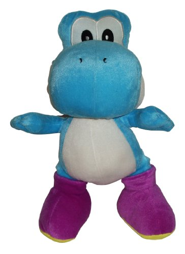 Nintendo Super Mario Yoshi blau/lila Plüschfigur, 34 cm