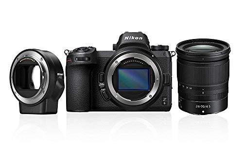 Nikon Z 6 Spiegellose Vollformat-Kamera mit Nikon 24-70 mm 1:4 S und Nikon FTZ-Adapter (24,5 MP, 5 Achsen-Bildstabilisator, OLED-Sucher mit 3,69 Mill. Bildpunkten, 273 Messfelder AF, 4K UHD Video)