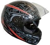 WinNet Casco integrale DVS da moto omologato con occhialini da sole, Taglia: XL