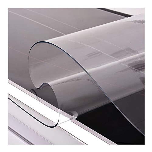 ZWYSL Mantel Transparente Rectángulo Protector Mesa 1,5 Mm, 2 Mm Vidrio Blando De PVC Plástico Transparente Tapete De Mesa Impermeable (Color : 2mm, Size : 50X200cm)