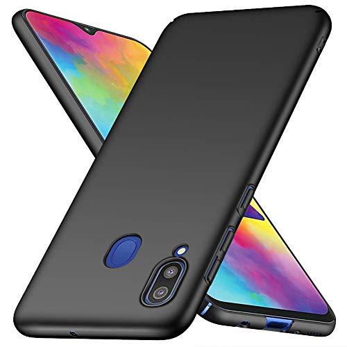Funda para Samsung Galaxy M20 Carcasas, Ultra-Delgado Anti caída y Ligera Totalmente Protectora Caso de PC Plástico Duro Absorción de Choque Resistente Cover Compatible con Galaxy M20 Samsung [Negro]