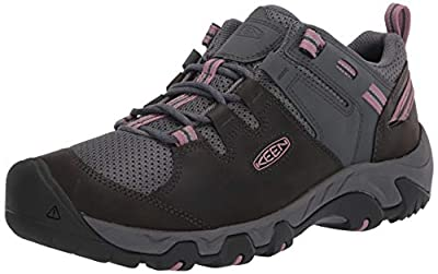 KEEN Women's Steens Vent Hiking Shoe, Black, 9