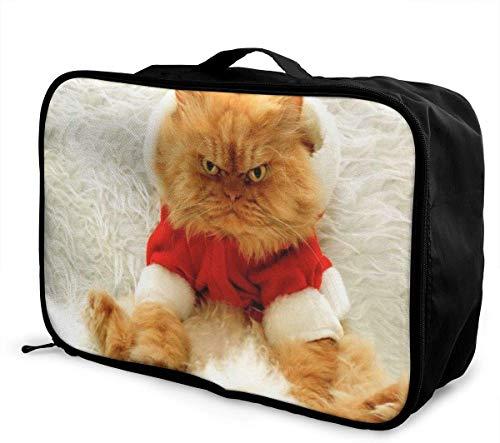 Bolsa de Viaje de Viaje con diseño de Gato Enojado Ligero y de Gran Capacidad portátil