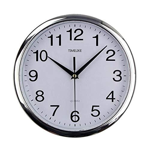 Aututer Recién Llegado Reloj de Pared Redondo Retro clásico Reloj de plástico Moderno Reloj de Cuarzo Reloj de Pared Redondo Retro