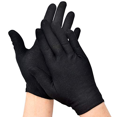 ZMYO 白手袋 礼装 業務 ドライバー 式典用 ジュエリー 運転手 フォーマル 警備 ジュエリーグローブ 薄 品質管理用 手ぶくろ 黒 3双組