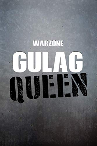 Warzone GULAG Queen Notebook: 6x9 Ruled Journal Planner: The Perfect Accessory for Gamers Solo Quads Battle-Royale