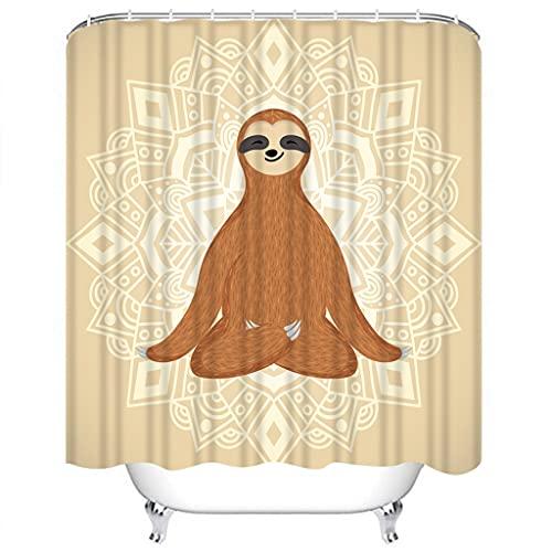 DJIHGELA DuschvorhangModerner Duschvorhang Ornament Italienischer Cyan Duschvorhang Wasserdichter Stoff für Badezimmer Dekor Duschvorhänge Set Mit Haken