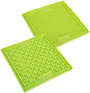 Lickimat Double Pack Anti-Anxiety Lick Mats, Green One Size
