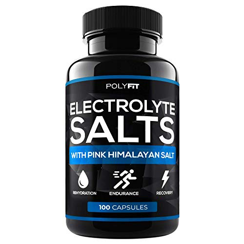 electrolyte replacements Electrolyte Salt Tablets - 100 Pills - Electrolytes Replacement Supplement for Rapid Hydration