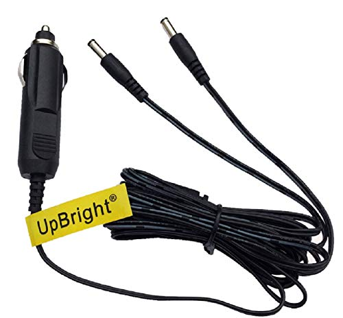 UpBright Adaptador de CC de dos salidas para RCA DRC6272 DRC6272b r1 DRC6272br1 de 7 pulgadas, reproductor de DVD portátil doble de 7...