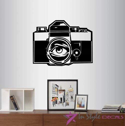 Lplpol Wall Vinyl Decal Home Decor Art Sticker Fotocamera Oog Op Lens Kamer Verwijderbare Stijlvolle Mural Uniek Ontwerp 2248