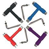BETOY 4 PCS Herramienta multifunción portátil para Skate, Accesorio para Skate, Herramienta con Llave Allen Tipo T Destornillador con Cabeza de Llave Phillips en Forma de L