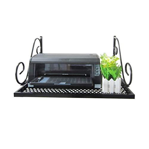 DUDDP cocina estanterías Organizador Rack Colgante de pared Impresora Estante Hierro Arte Rack de oficina Cocina Microondas Horno Rack Separador de 1 niveles Rack de almacenamiento Soporte Pilones Neg