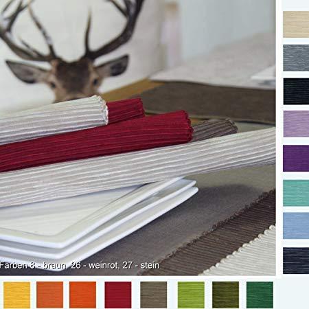 Sander 4-er Set Tischset Breeze, 35x50 cm, Farbe 26- weinrot