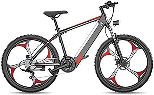 Bici elettriche 26 '' Mountain bike elettrico Pneumatico grasso Ebike Sport Bikes Mountain Bikes Piena sospensione con 27 velocità Attrezzatura e tre modalità di lavoro, freni a disco, per esterni per