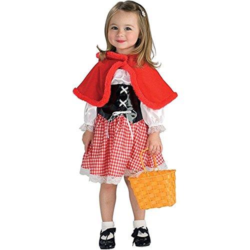 Little Red Riding Hood Costume, Blanco, Bebé (2 años)