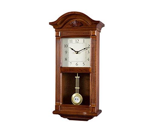 RELOJESDECO Reloj de Pared de péndulo 51cm, Reloj de pendulo, Reloj de carrillon, sonería Westminster Madera. Disponible NUMEROS Romanos
