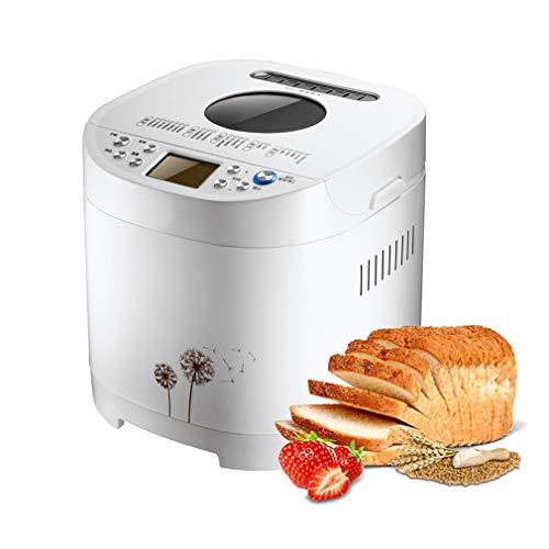 ZTGL Vollautomatischer Brotbackautomat, Schnelle Multifunktionale Brotmaschine aus Edelstahl mit 21 Programmen, 3 Krustenfarben, 15-Stunden-Verzögerungstimer, Weiß
