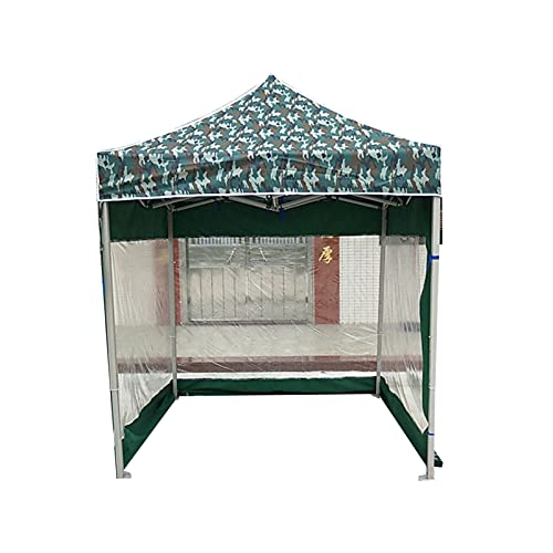 2 cenadores de 2 m con 3 paredes laterales, para exteriores, jardín, bodas, fiestas, cenador, carpa de camuflaje resistente al viento, antirayos UV (tamaño: 2 x 2 m)