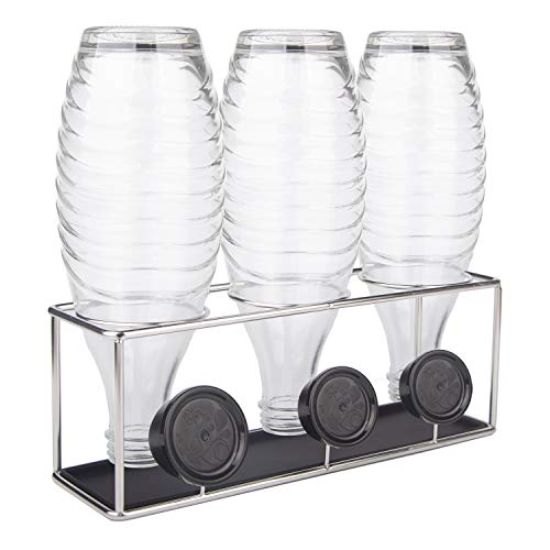 HunDun Flaschenhalter für SodaStream, Abtropfhalter aus Edelstahl für Crystal, Easy, Fuse und Emil Glasflaschen, spülmaschinenfest