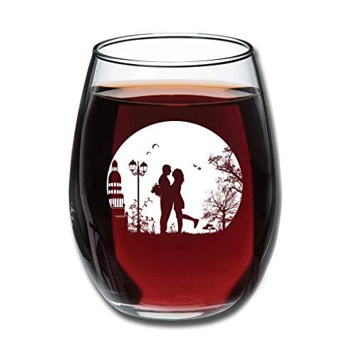 Ballbollbll Copa de vino belga con grabado personalizable para fiesta de cumpleaños, 350 ml