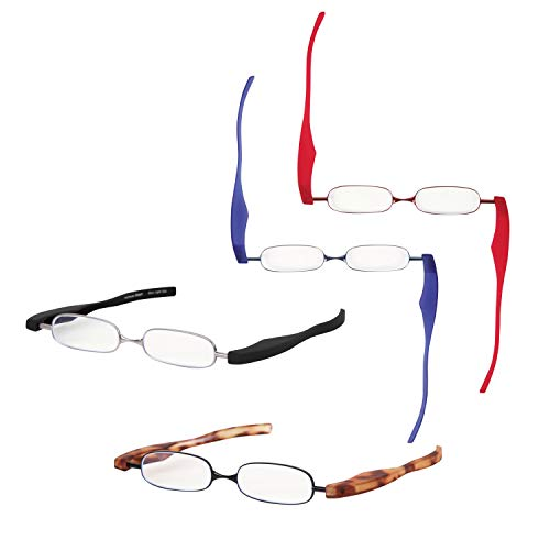 PrePiar 老眼鏡 ブルーライトカット メガネ POD READER SMART 超軽量 薄型 ケース付 (ブルー+1.5)