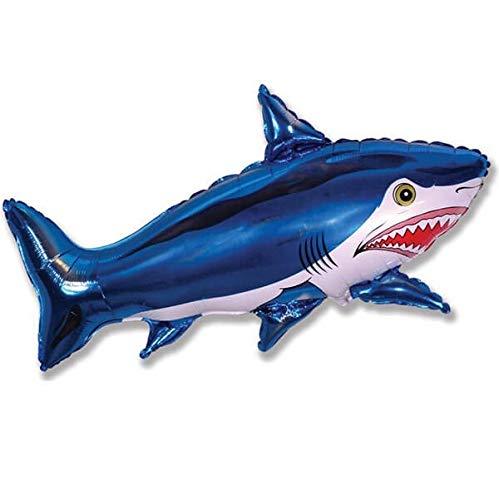 Globo Tiburon Azul - Forma 45cm Foil Poliamida - F901643