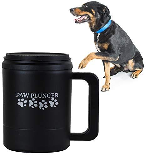 Paw Plunger Pfotenreiniger für Hunde Large, Schwarz