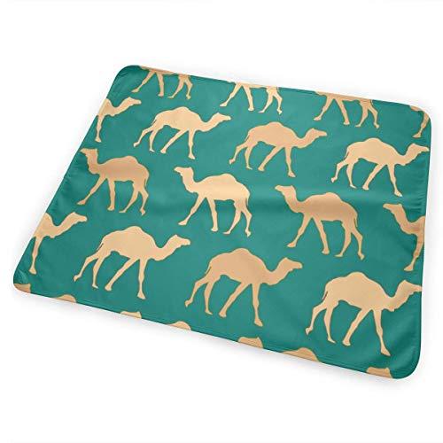 Woestijn Camel Caravan Veranderende Pad Waterdicht Draagbare Grote Baby Veranderende Mat om Luier Matrassen Pad Cover voor Jongen en Meisje Pasgeboren (25.5
