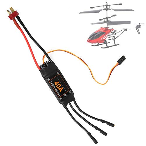 40A RC Brushless Motor Controlador de Velocidad eléctrico Brushless ESC RC Drone Helicopter FPV Piezas Accesorios Controlador de Velocidad eléctrico para RC Airplane Helicopter(Negro)