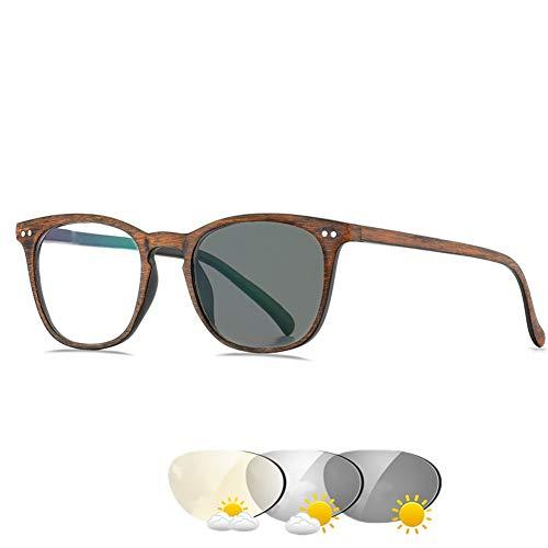 Fotochrome leesbril voor vrouwen, heldere lezers worden zonnebrillen in de zon, UV400, receptlezers