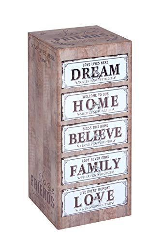 ts-ideen ts-ideen - Cómoda (71,5 x 30,5 x 31,5 cm), diseño vintage