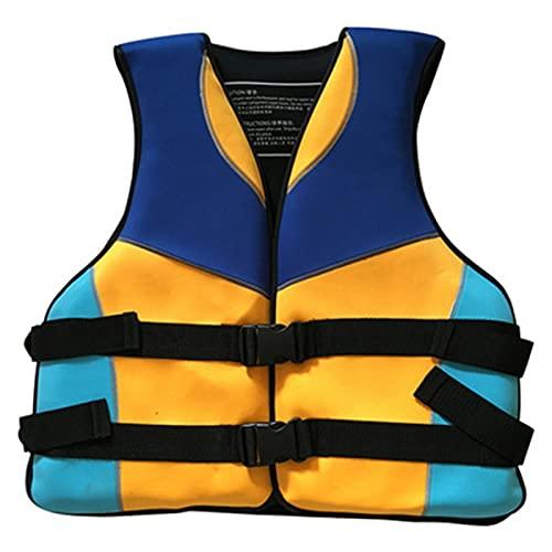 AWDG Niños/Deportes de Agua Adultos Chalecos Salvavidas, Chalecos de Vida de flotabilidad, Pesca, navegación, Kayak, Surf y natación Yellow- Children