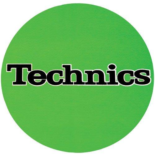 Technics DJ Slipmat verde con logo nero (Coppia) Panni...