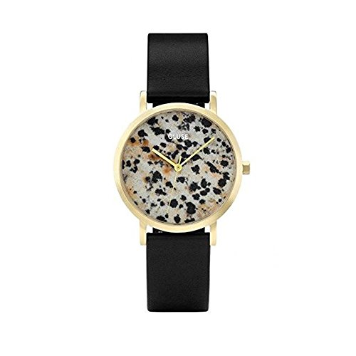 Cluse Unisex Erwachsene Digital Quarz Uhr mit Leder Armband CL40105