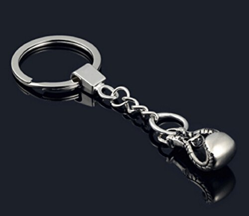 Sportigo® Boxhandschuh Schlüsselanhänger in der Farbe Silber/Boxen Boxer Handschuh