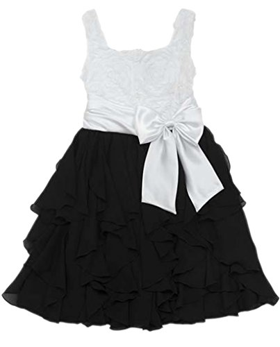 Rare Editions Mädchen 3D Chiffon Wasserfall-Kleid ~ Ballkleid Größe 128