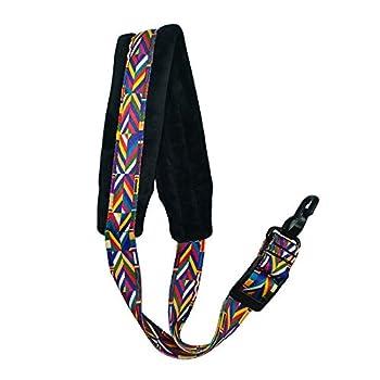 Saxophone Strap Rainbow Style Soft Padded Alto Tenor Bari Soprano Sax Neck Harness