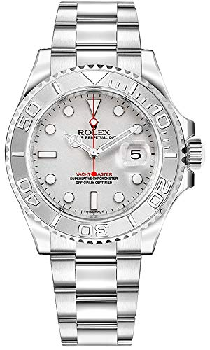 Rolex-Yacht-Master-Platinum-Dial-Stainless-Steel-Automatic-Mens-Watch-168622PLSO