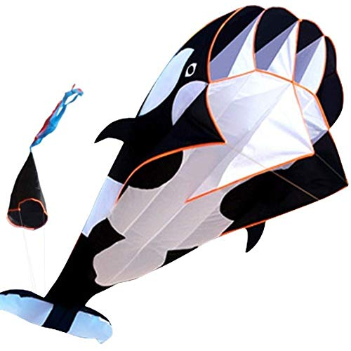 FFSM Original Kite, Kids Kite Fun Kites For Kids Easy To Fly With Outdoor Sports Software Whale Kite Easy to fly (Color : Black) plm46 (Color : Black)