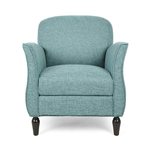 Christopher Knight Home Crew Traditional Tweed Armchair, Teal, Navy Blue