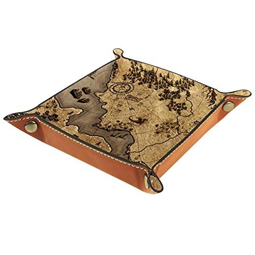 Map Old Vintage - Caja de almacenamiento para teléfono, gafas, cartera, llaves, monedas